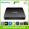 WesoPro 2016 Hot Sale Amlogic S905 Android 5.1 Quad Core 1g/8g Kodi 16.0 4k Tv Set Top Box A95x