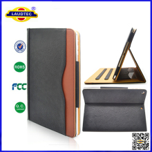 Tan Leather Flip Wallet Stand for iPad Air case