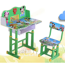 Modern ergonomic kids study table and desk/height adjustable school desk and chair