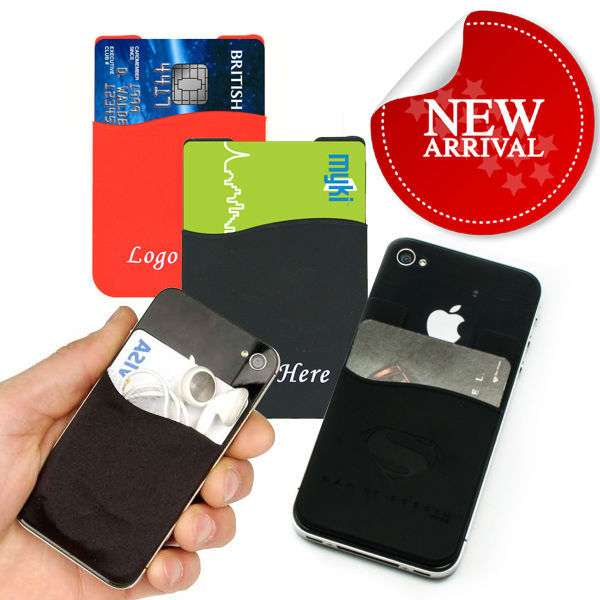 3m sticker smart wallet waterproof silicone cellphone pouches