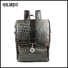Cheap wholesale leather goods fancy backpack pattern from china 2016