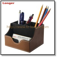 Executive office table faux leather organizer for business gift