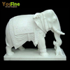 Life Size Marble Elephant Sculpture For Sale