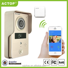ACTOP Home ip door intercom smart phone video doorp phone with ID card unlock wireless ip door bell
