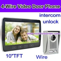 10 inch LCD hotel doorbell with motion detection, night vision, hand-free intercom