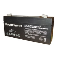 supply SLA battery white and black 6V3.4AH