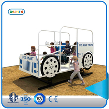 2016 Mail trucks new creative design playground equipment,spring rocker car for kids play