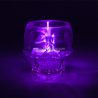 The White Barn Glass Votive Candle Holders Royal Blue crackle skull shaped clear candle container