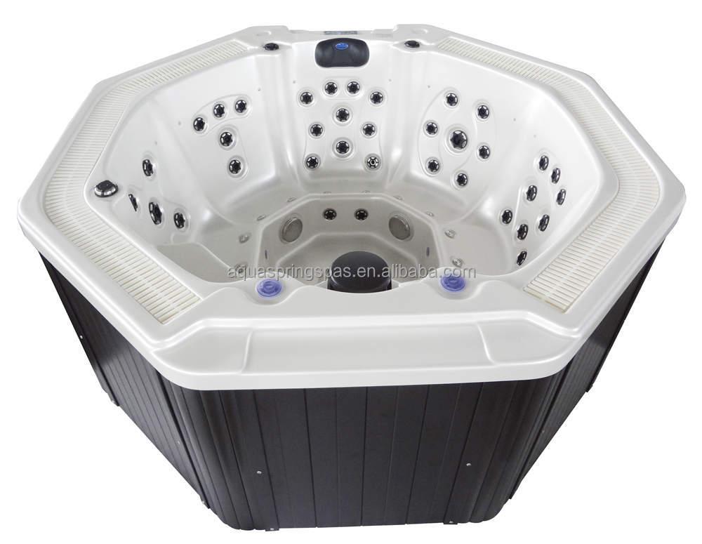 Octogonal spa al aire libre jacuzzi al aire libre incorporado al aire libre piscina spa ba era - Jacuzzi aire libre ...