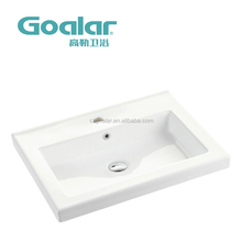 Hot selling new ceramic cabinet basin smooth glaze easy cleanning basin for bathroom use