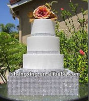 DG-26 high quality wedding crystal cake stand india , square wedding cake stands , cupcake wedding cake stands