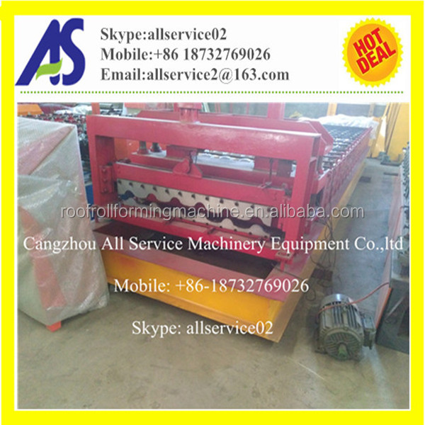 1000 automatic color steel glazed roof tile roll forming machine