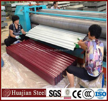 galvanized and color coated corrugated steel for roofing
