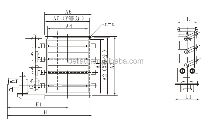 electric control damper  square round and louver type