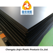 black pp material corrugated sheet / plastic corflute sheets for floor & wall protection