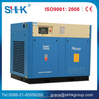 75 hp screw air compressor of China
