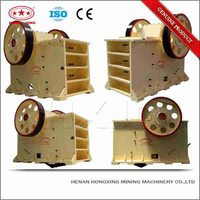 Mineral rock and stone jaw crusher design