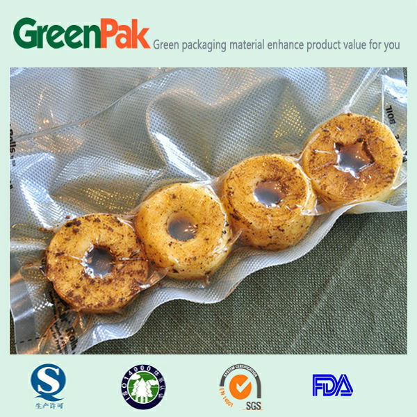nylon/poly embossing pouches food package in jiangyin
