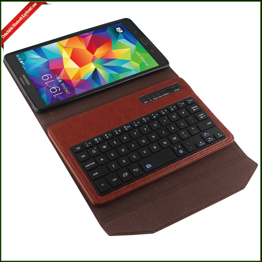 "Leather Keyboard Case for 8.4"" tablet PC , 8.4 inch keyboard case for android tablet"