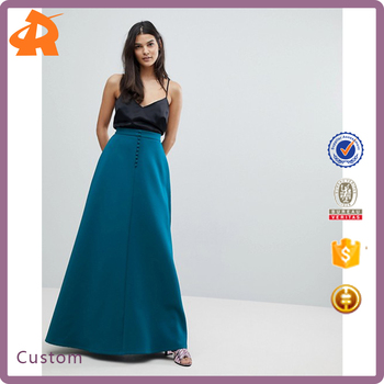 customize hot sale long maxi skirt,ladies winter skirt manufacturer in china
