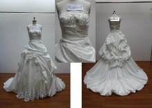 2013 latest lace beaded and tulle Muslim wedding gown