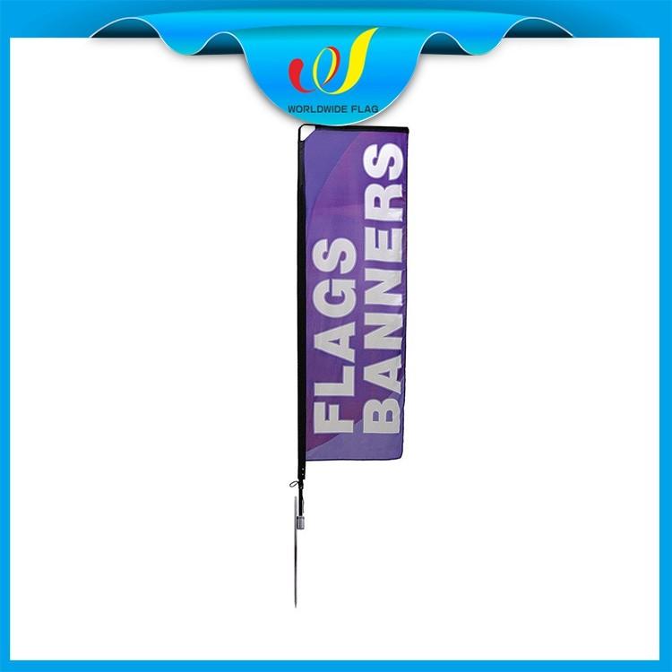 Wholesale Advertise Feather Trade Show Commercial 3x5 Spoon Mobile Flag Banner