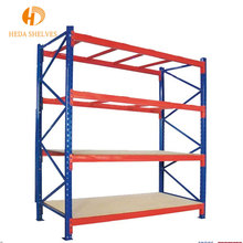 High quality 4 layer Angle Iron Rack, painting warehouse iron storage rack