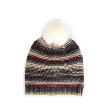 Wholesales fashionable hangzhou winter cable pompon colorful graffiti hand acrylic beanie knitted hat