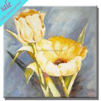 modern flower canvas oil painting in stock HF-3802217596