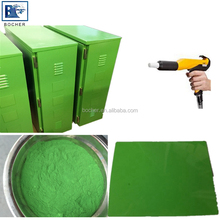 china supplier green epoxy polyester powder coating for steel