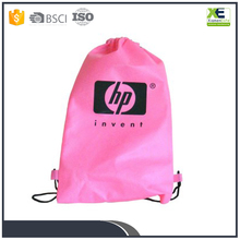 Polyester Cotton Material Wholesale bulk custom Fabric drawstring bags for laptop shoes