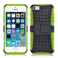 2 in 1 Shockproof & Dustproof Cellphone Case For Apple iPhone 5s