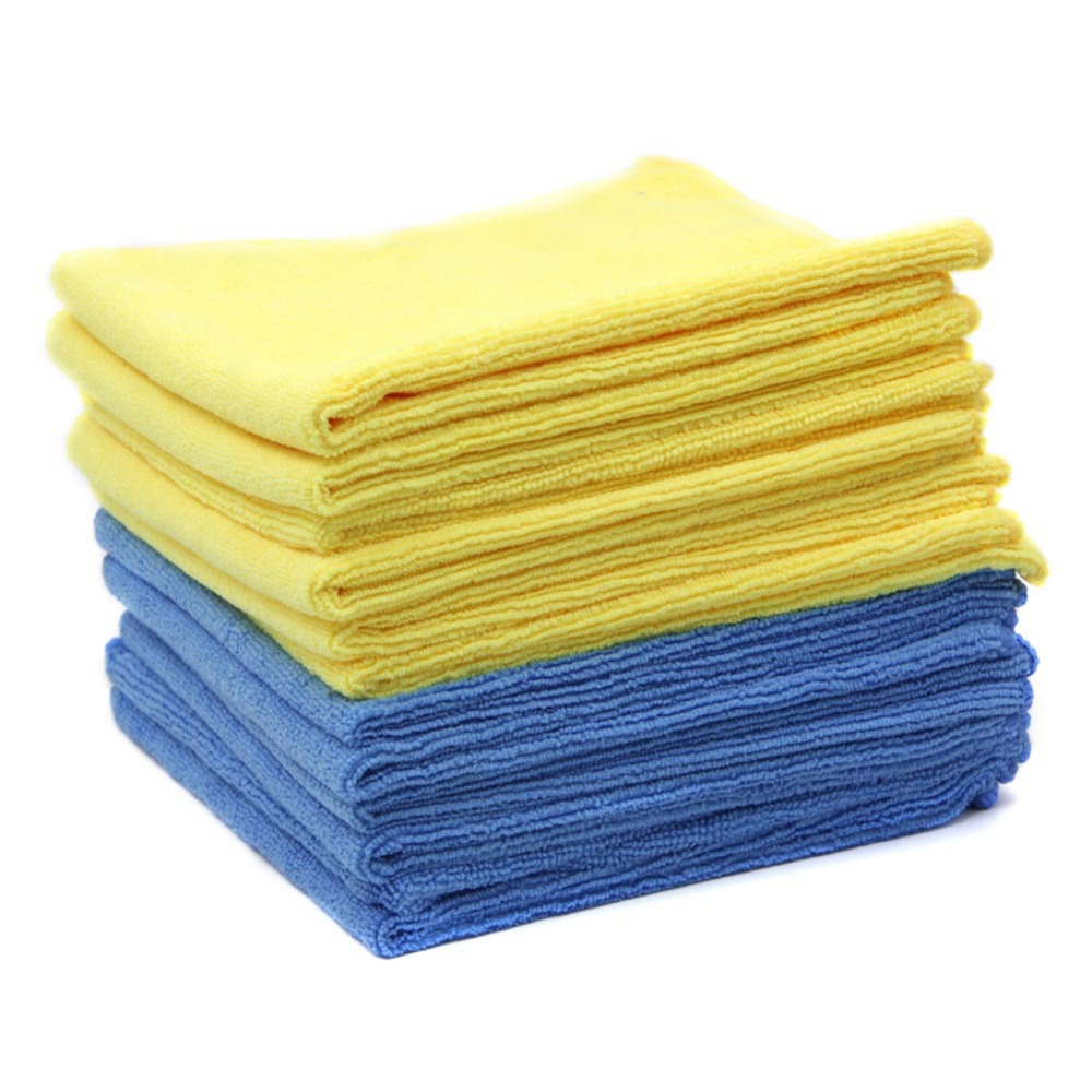 Microfiber Cleaning Cloth / Bulk Duster Rag Sponge for Car Wash Auto Care Thick microfiber cloth