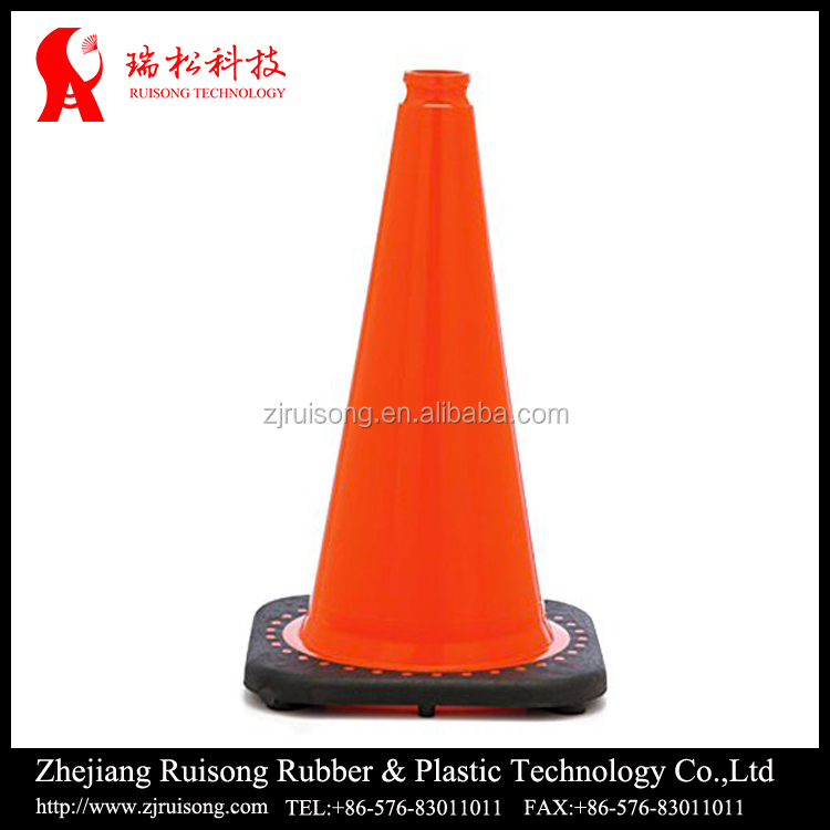 with reflective sleeve extensive traffic cone for roadway safety