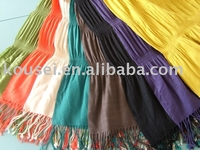 pashmina plain colored and crinkled shawl