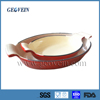 Fish shaped enamel cast iron steak sizzler plate with best price