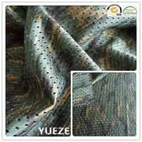 100% polyester travelling bag mesh fabric with camouflage