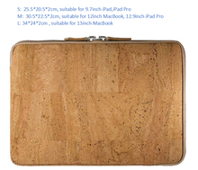 Boshiho tablet case for 13inch fancy cork natural cork laptop bag