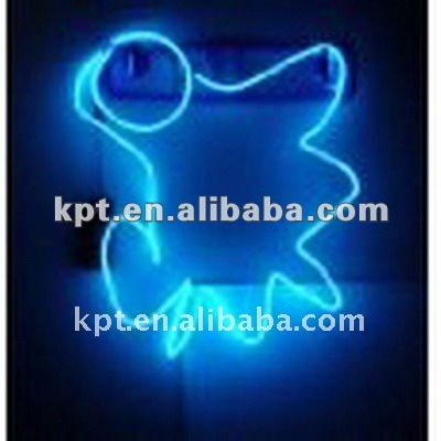 Electroluminescent EL wire, Sign, board el rope light