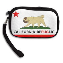 California Republic 100% Polyester Fiber Funny Coin Wallet with Zipper