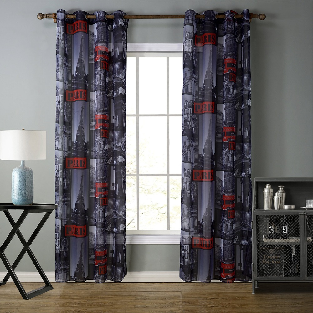 High Quality Factory Manufacture sheer fancy window curtain for living room