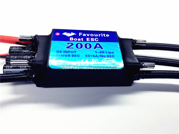 High Quality RC Boat 200Amp Brushless Speed Controller Water-Cooled ESC