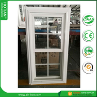 PVC Tempered Glass Double Hung Vinyl Windows for Sale