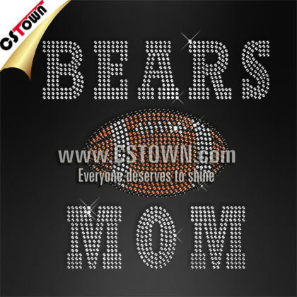 Cheer Mom sports rhinestone iron on patches letters