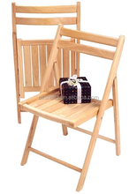 Solid wood construction foldable chair,set of 5,pine wood folding chair