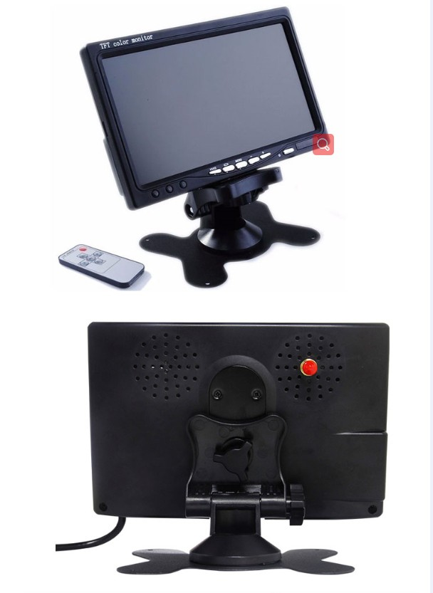 New Arrival 7 inch TFT LCD Car Rearview Monitor with 2 AV inputs
