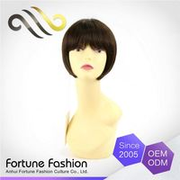 Customized Oem Best Price Short Bob Cuts Blunt Orange Lace Front Wig