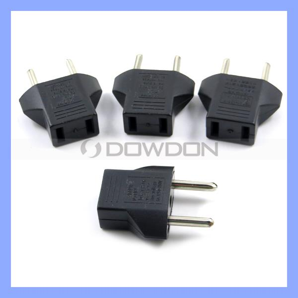 New Flat to Round Power Plug Convertor US to EU Plug Adapter for Promotional Plug Adaptor
