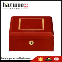 cherry glossy wood watch packaging,exquisite handmade wood watch box,watch case for 6 watches