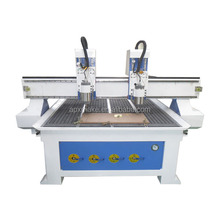 cnc wood carving machine/cnc router with two spindles